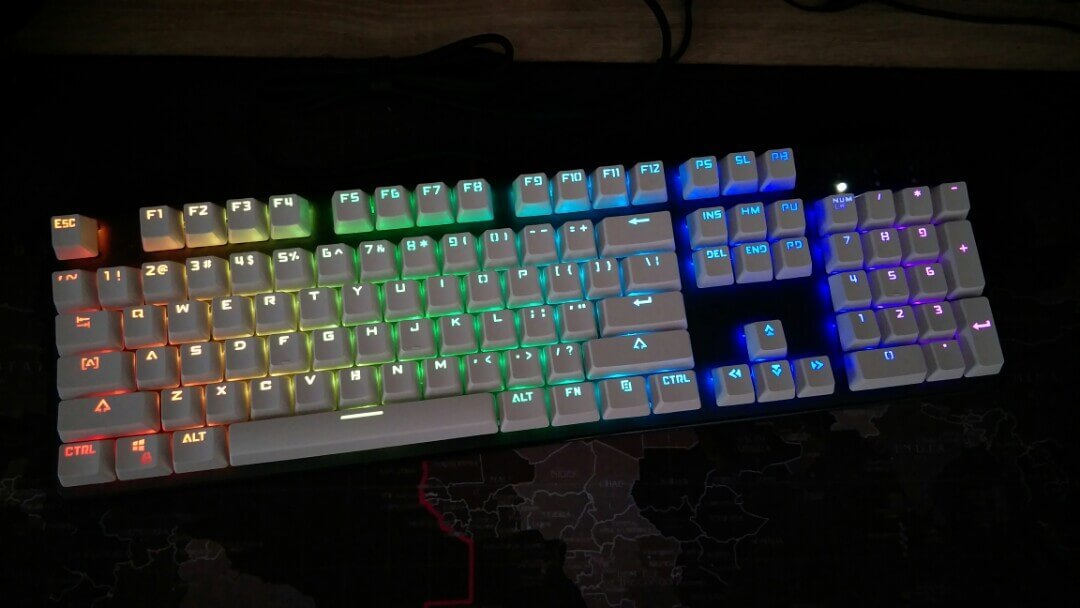 Example of an RGB backlight (or in-switch RGB lighting)