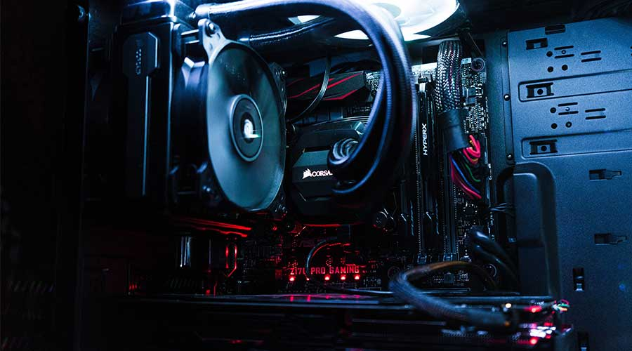 Example of the interior of a PC which is an important factor when looking for quality streamer gear.